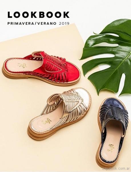 sandalias planas metalizadas multicolores verano 2019 - Sofi Martire