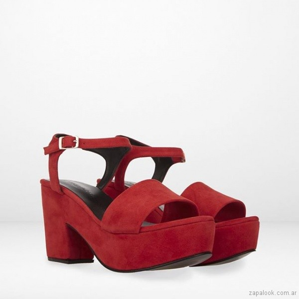 sandalias rojas con plataformas verano 2019 - Maggio Rossetto