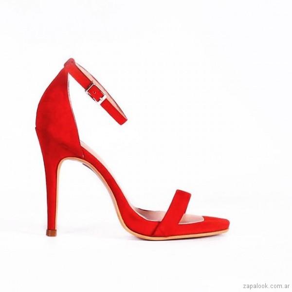 sandalias rojas elegantes verano 2019 - Micheluzzi