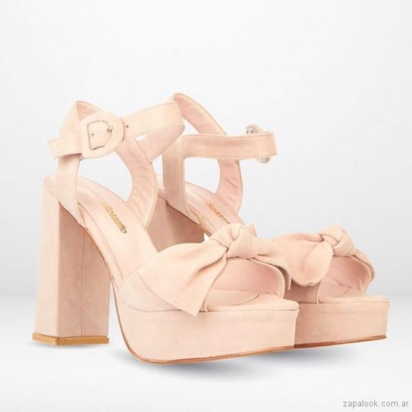 sandalias rosadas altas verano 2019 - Maggio Rossetto
