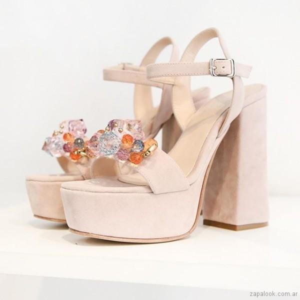 sandalias rosadas fiesta verano 2019 - Paloma Cruz