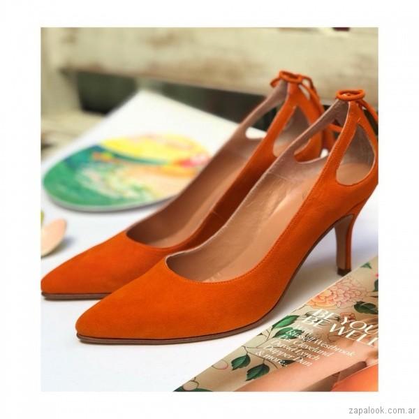 stiletto naranja primavera verano 2019 - Alfonsina Fal