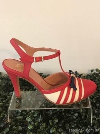 stilettos rojos a rayas verano 2019 - Alfonsina Fal