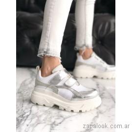 zapatillas base altas deportivas juveniles verano 2019 - Pamuk