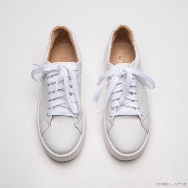 zapatillas de cuero urbanas para mujer verano 2019 - Calzados DONNE