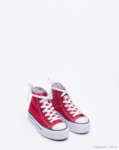 zapatillas de lona rojas verano 2019 - calzados adolescentes 47 Street