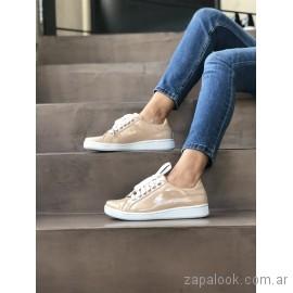 zapatillas urbanas juveniles de charol verano 2019 - Pamuk