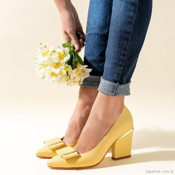 zapatos amarillos verano 2019 - Saverio di ricci