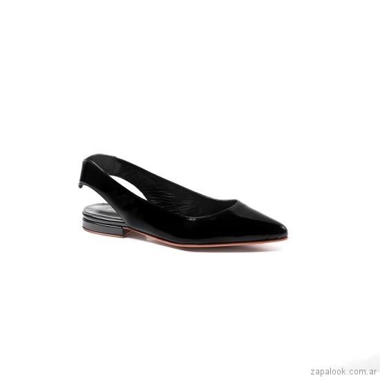 zapatos charol planos verano 2019 De Maria calzados