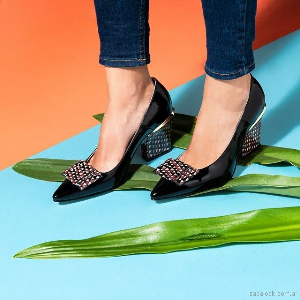 zapatos negros elegantes verano 2019 - Saverio di ricci