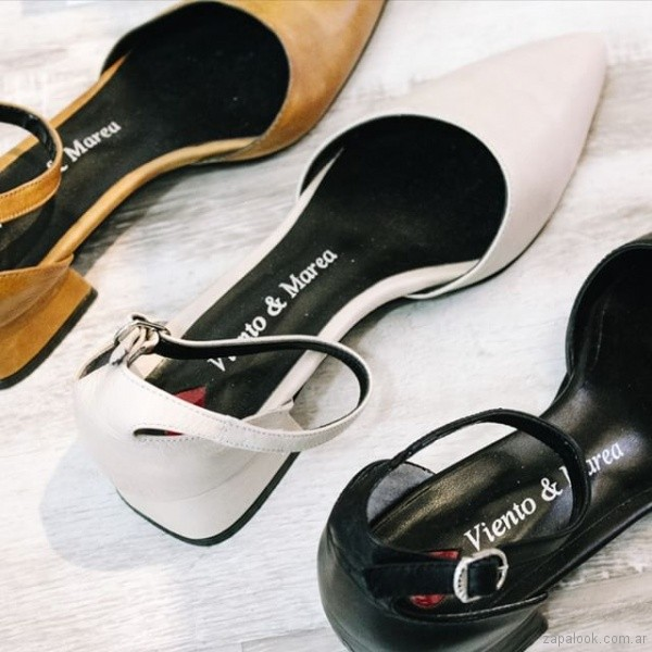 zapatos planos para mujer verano 2019 - Viento y marea