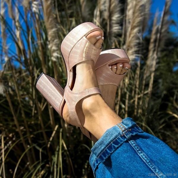 zapatos rosa metalizado verano 2019 - Paloma Cruz