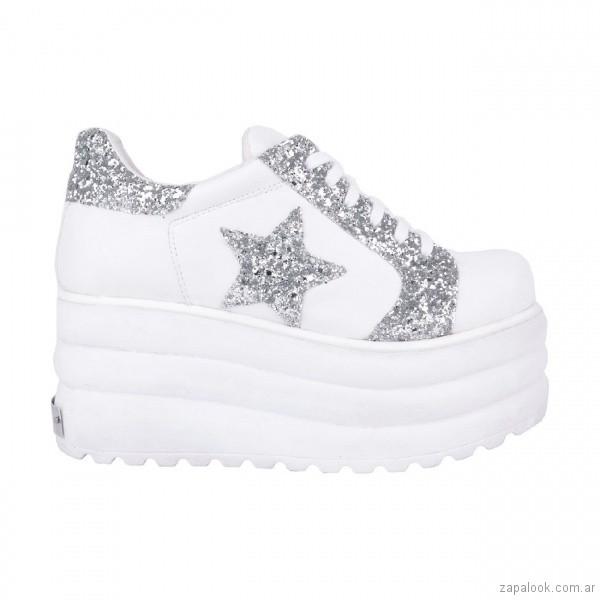 Zapatillas blancas con plataformas juveniles verano 2019 - Luna Chiara