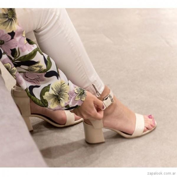 sandalias elegante taco medio verano 2019 - Paruolo