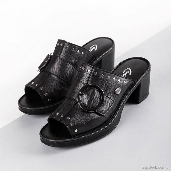 sandalias negras para mujer verano 2019 - Cavatini