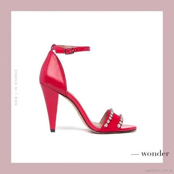 sandalias rojas elegantes verano 2019 - Paruolo