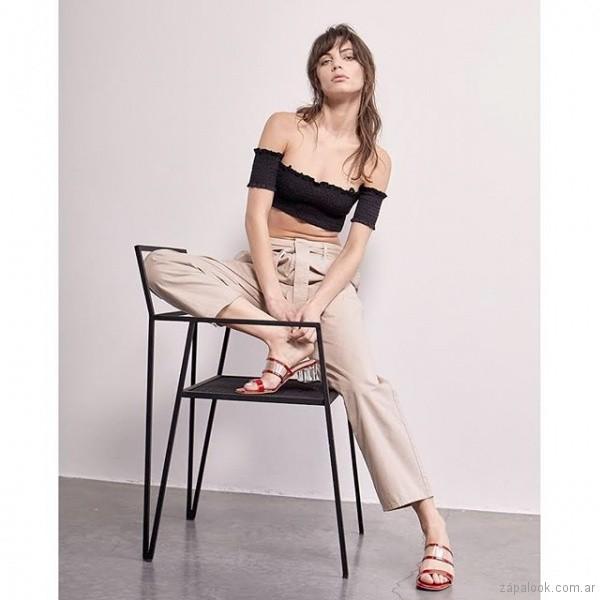 sandalias rojas y transparente 2019 Sibyl Vane