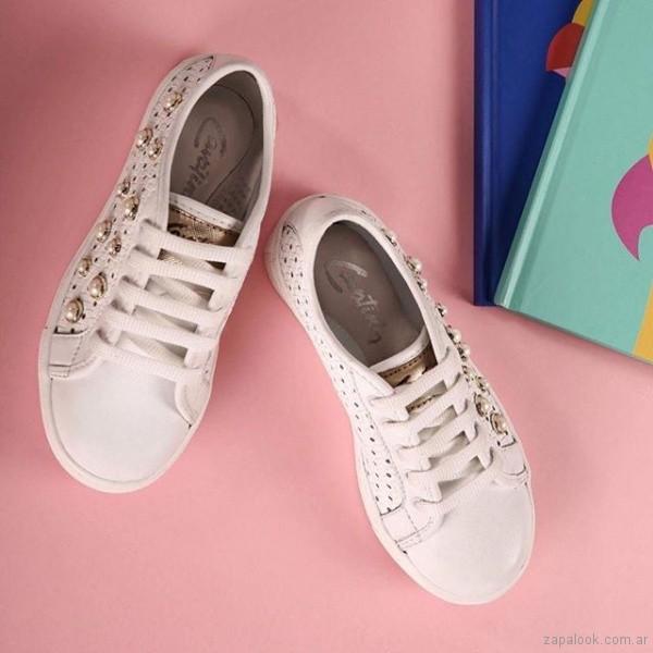 zapatillas con perlas para mujer verano 2019 - Cavatini