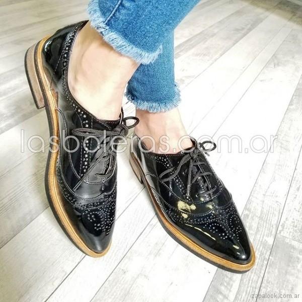 cf54df1fe3 zapatos negros abotinados para mujer verano 2019 – Las Boleras ...