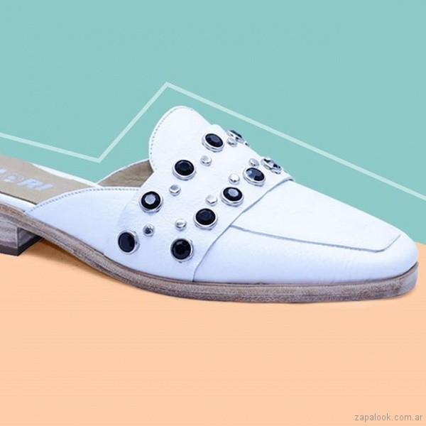 zuecos blancos verano 2019 - Fiori Calzature