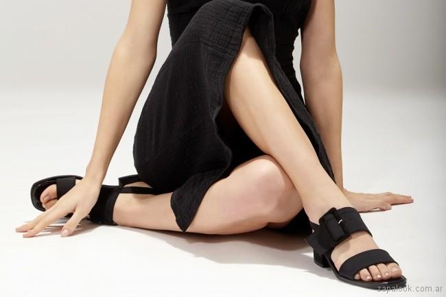 Sandalias negras verano 2019 - Chao Shoes