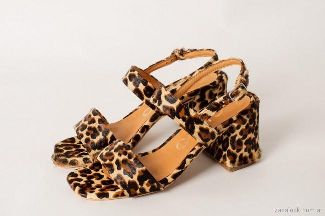 sandalia animal print verano 2019 Chao Shoes