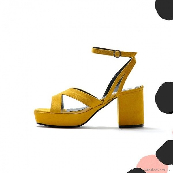 sandalias amarillas fiesta juvenil verano 2019 - Natacha