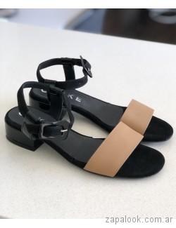 sandalias bajas beige verano 2019 - Los GeKkes