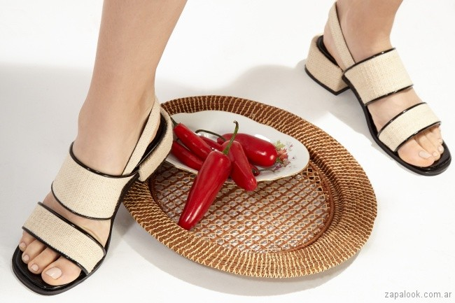 sandalias crema verano 2019 - Chao Shoes