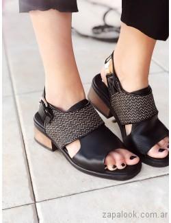 sandalias negras bajas verano 2019 - Los GeKkes