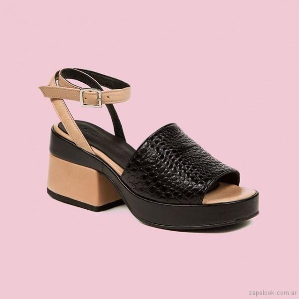 sandalias negras y marrones verano 2019 - Laura Constanza