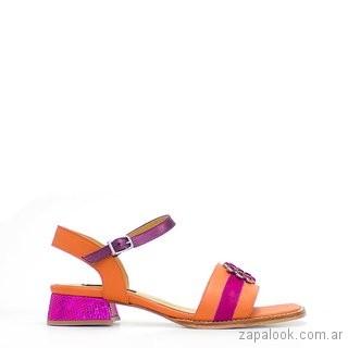 sandalias purpura y durazno verano 2019 - Luz Principe
