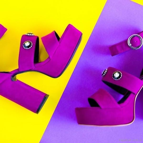 sandalias purpuras noche fiesta juvenil verano 2019 - Natacha