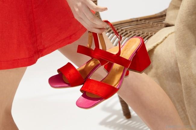 sandalias rojas elegantesChao Shoes