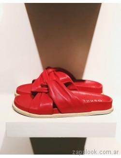 sandalias rojas planas verano 2019 - Los GeKkes