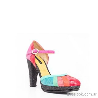 zapato alto multicolor verano 2019 - Luz Principe