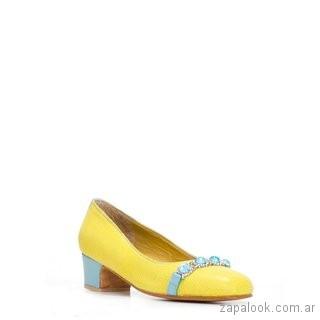 zapato bajo amarillo verano 2019 - Luz Principe