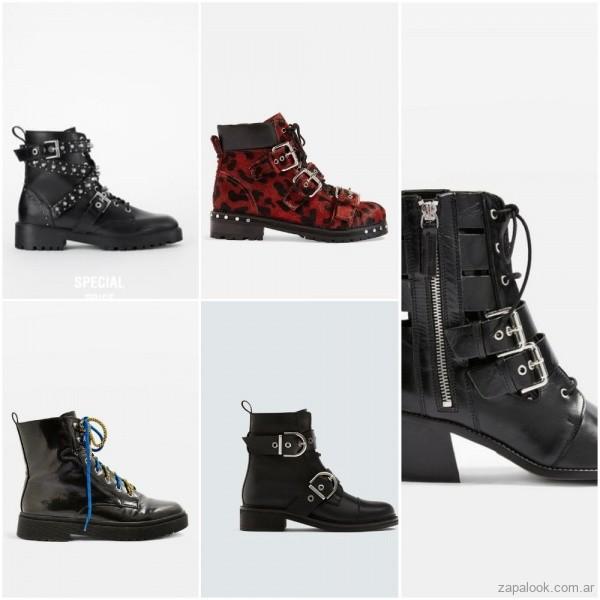 8169f29b1aa Borcegos y tachas  El estilo rockero estará en Ankle boots de cuero