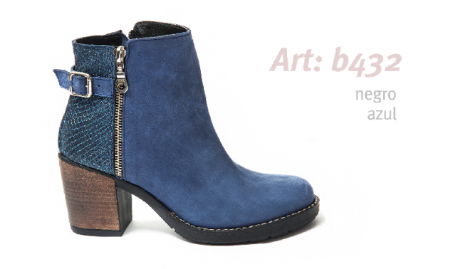 996d7d6996bd4 bota con taco azul mujer invierno 2019 - Traza calzados