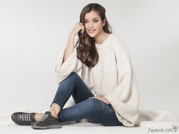 zapatilla de cuero mujer invierno 2019 - Cavatini