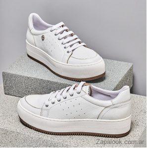 zapatillas mujer blancas invierno 2019 Sofi Martire
