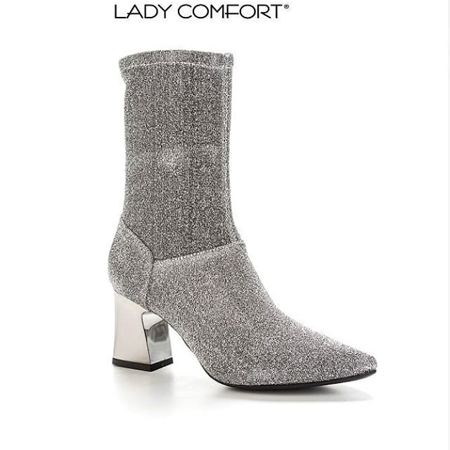 Bota metalizada estilo calcetin invierno 2019 Lady comfort