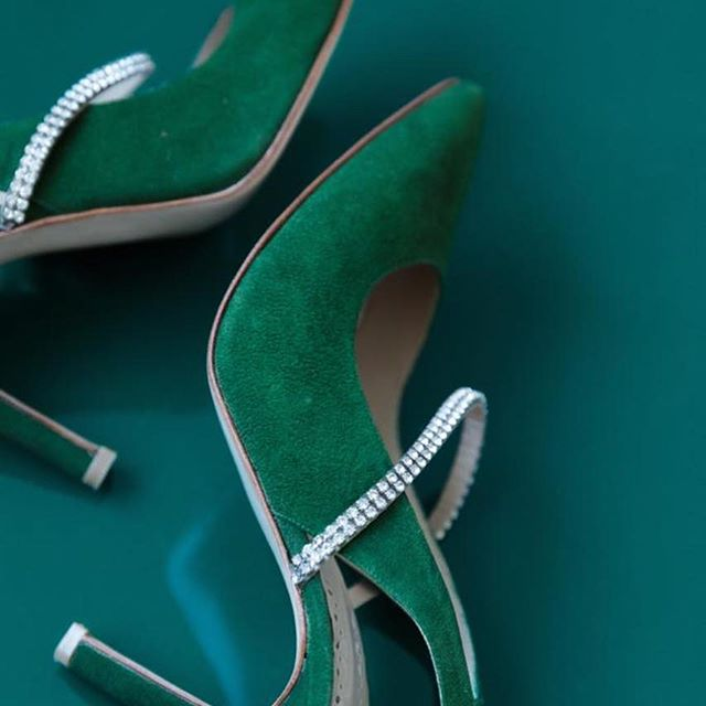 De Maria Stilettos altos verdes invierno 2019
