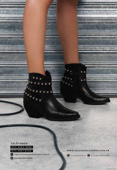 botas cortas negras invierno 2019 Lucerna