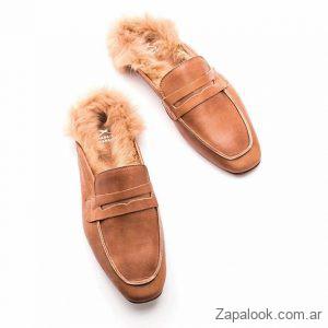 mocasines con pelo sintetico invierno 2019 Margie Franzini Shoes