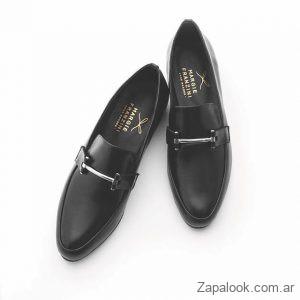 mocasines negros de mujer invierno 2019 Margie Franzini Shoes