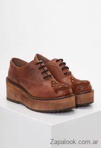 zapatos acordonados suela invierno 2019 Clara Barcelo