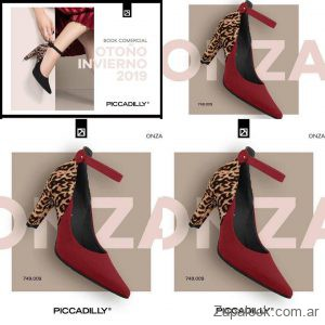zapatos bordo y animal print invierno 2019 Piccadilly