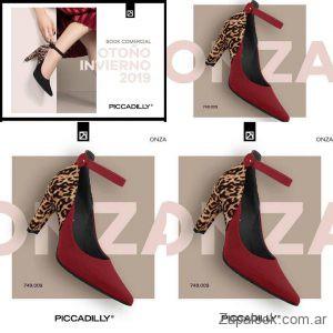 zapatos bordo y animal print invierno 2019 Piccadilly