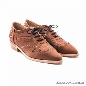 zapatos de cuero abotinados invierno 2019 Margie Franzini Shoes